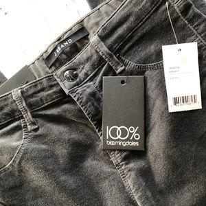 J BRAND Gray Velvet Jeans Sz 24 Bloomingdales Only